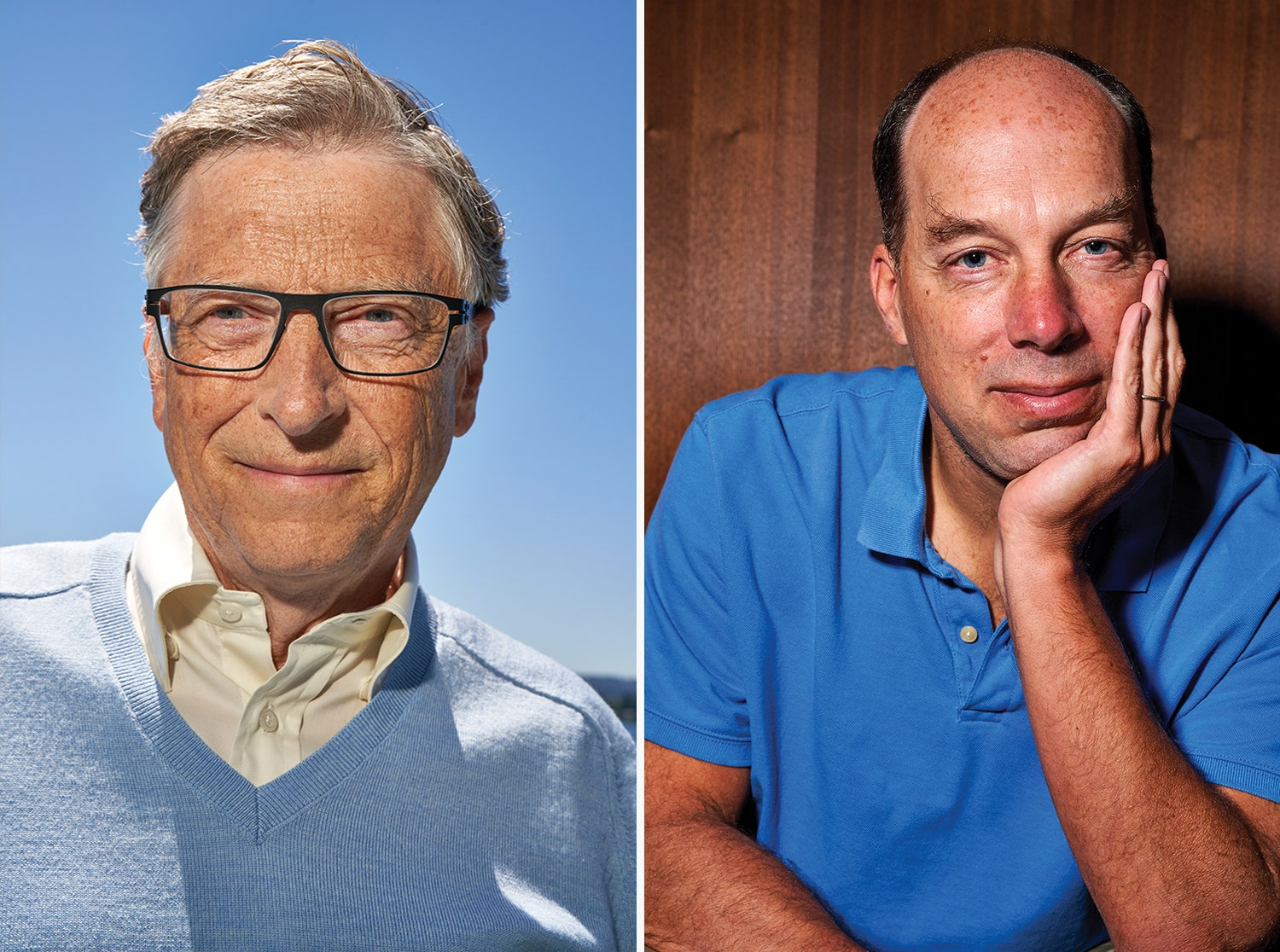 Photos of Bill Gates (left) and Steve Quake (right)